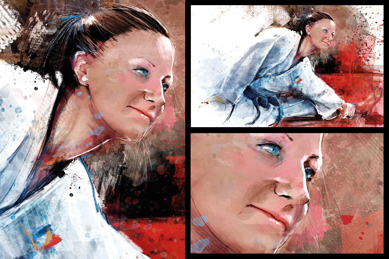 vandervale cedric-digital painting-karaté